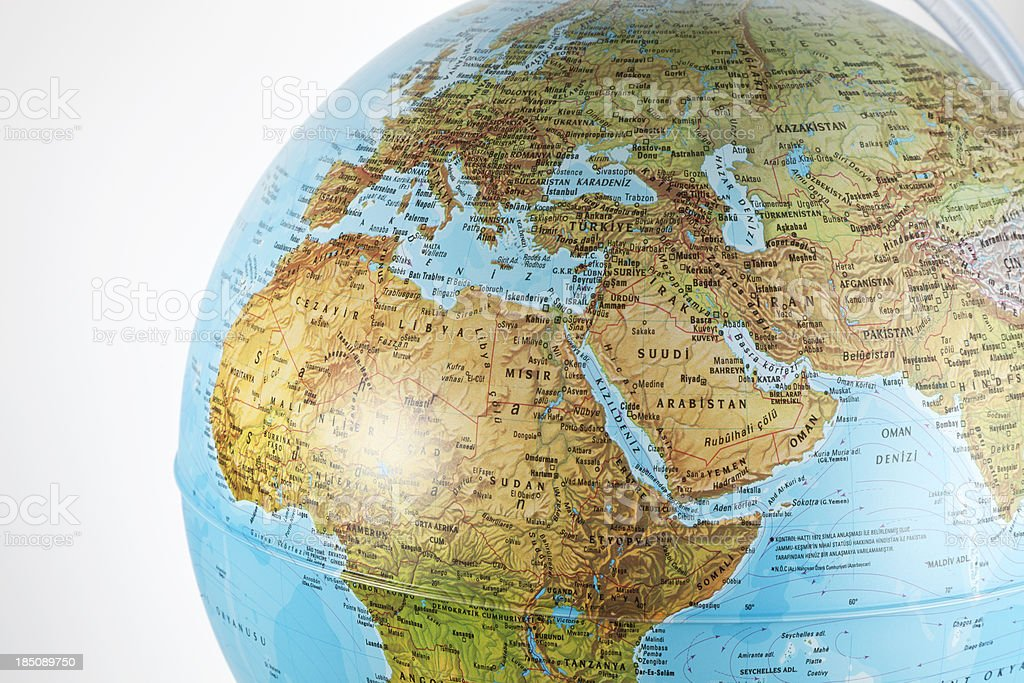 World Globe in Geographical royalty-free stock photo