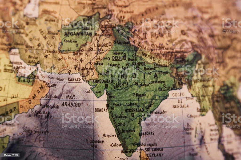 World Globe: India royalty-free stock photo