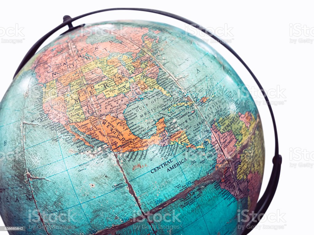 World Globe Map Model Isolated stock photo