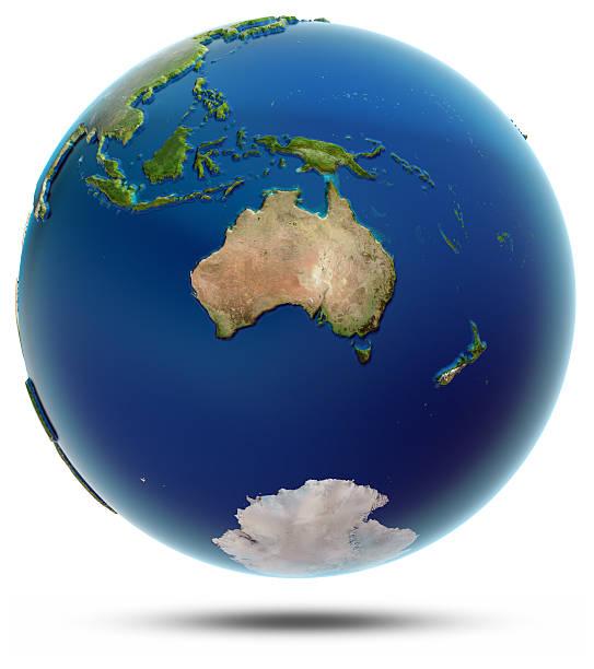 World globe - Oceania stock photo