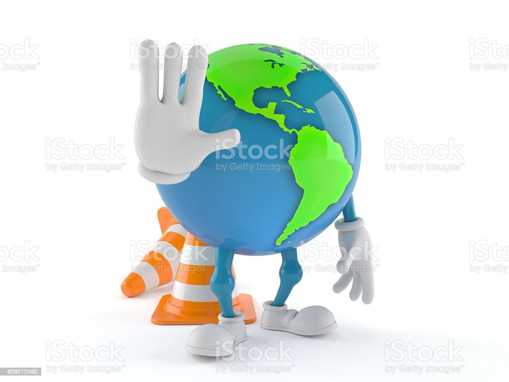 World globe stock photo