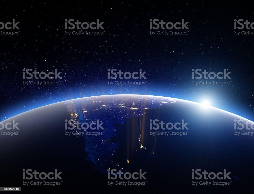 Mundo planeta tierra. Render 3D - foto de stock