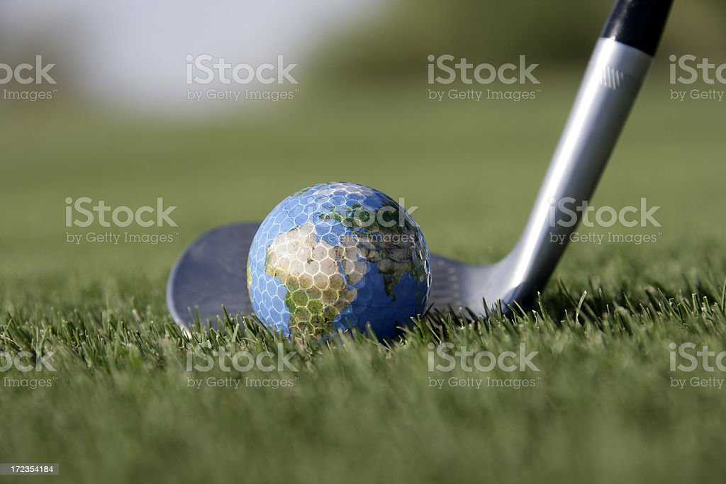 World Golf Ball and Wedge royalty-free stock photo