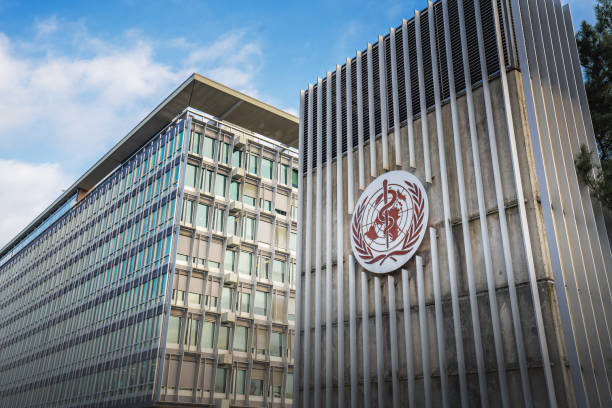 World Health Organization (WHO / OMS) Headquarters - Geneva, Switzerland stock photo