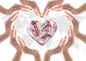 istock World heart health day, blood, organ donor concept with collaborative heart-shape hands 1010327102