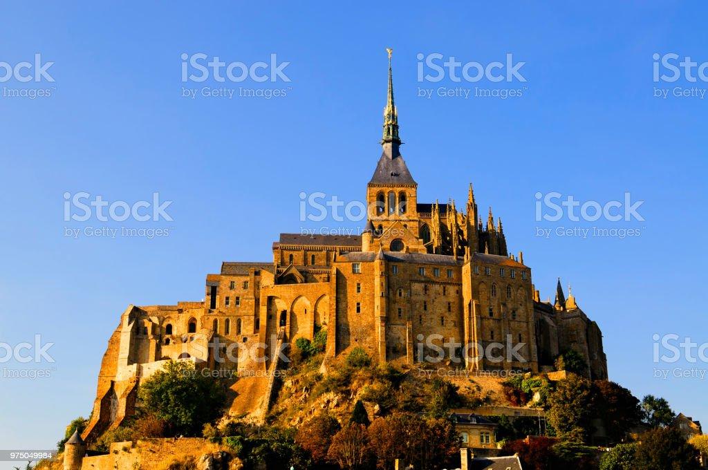 UNESCO World Heritage Mont-Saint-Michel Abbey, France stock photo