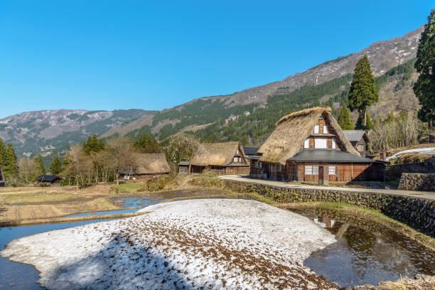 World Heritage site Ainokura (Gokayama) mountain village stock photo
