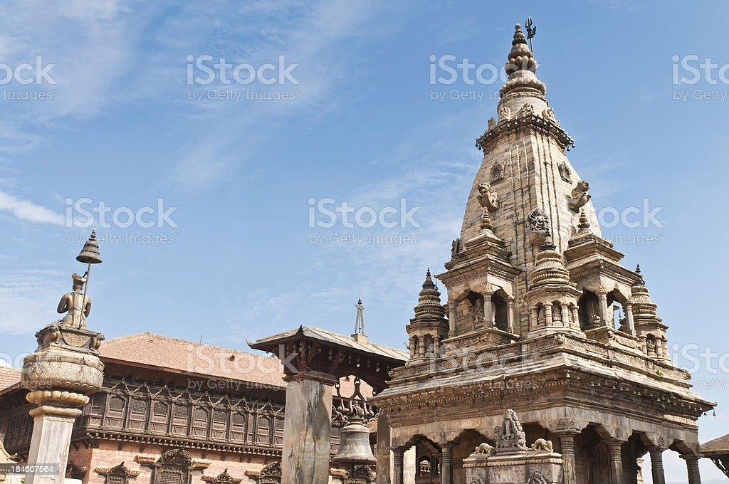 UNESCO World Heritage Site Bhaktapur Durbar Square temples Kathmandu Nepal royalty-free stock photo