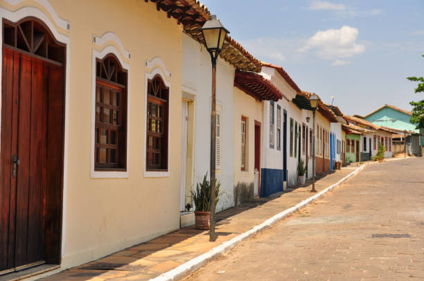 World heritage site - cobblestone street and townhouses World heritage site - cobblestone street and townhouses goias stock pictures, royalty-free photos & images