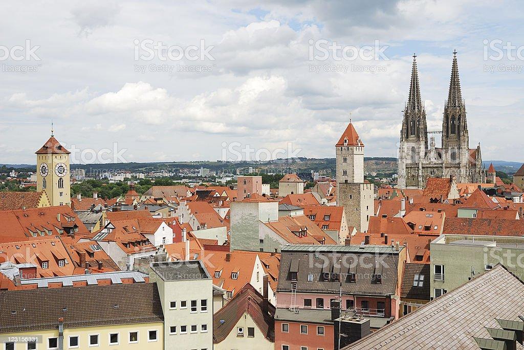 World Heritage Site Regensburg stock photo
