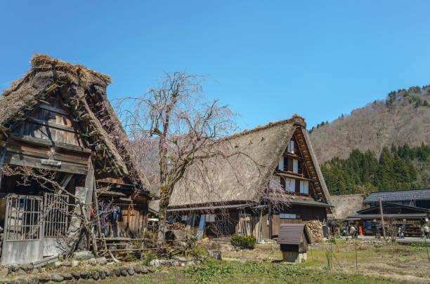 World Heritage site Shirakawago stock photo