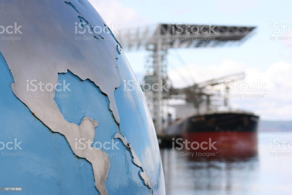 World Import Export Cargo and Shipping stock photo