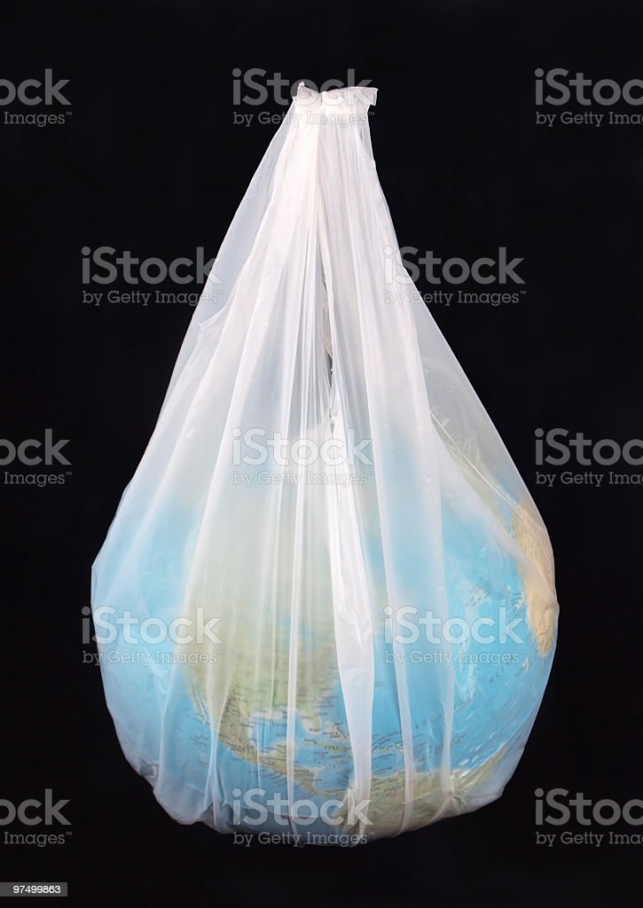 World in a plastic bag royalty-free stock photo