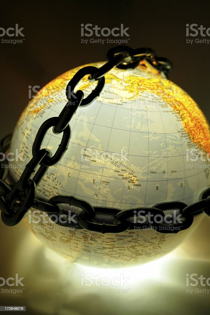 World in chains royalty-free stock photo