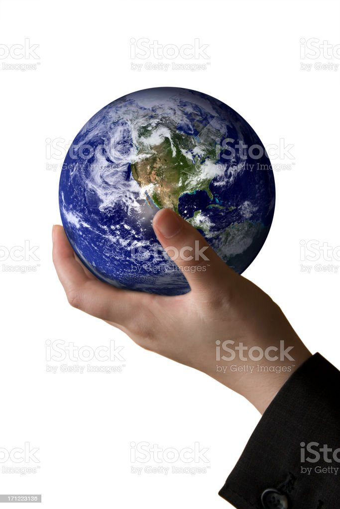 World in hand - isolated royalty-free stock photo