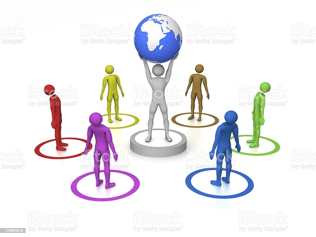 World in hands royalty-free stock photo