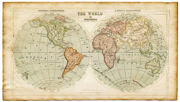 world map vintage stock photos