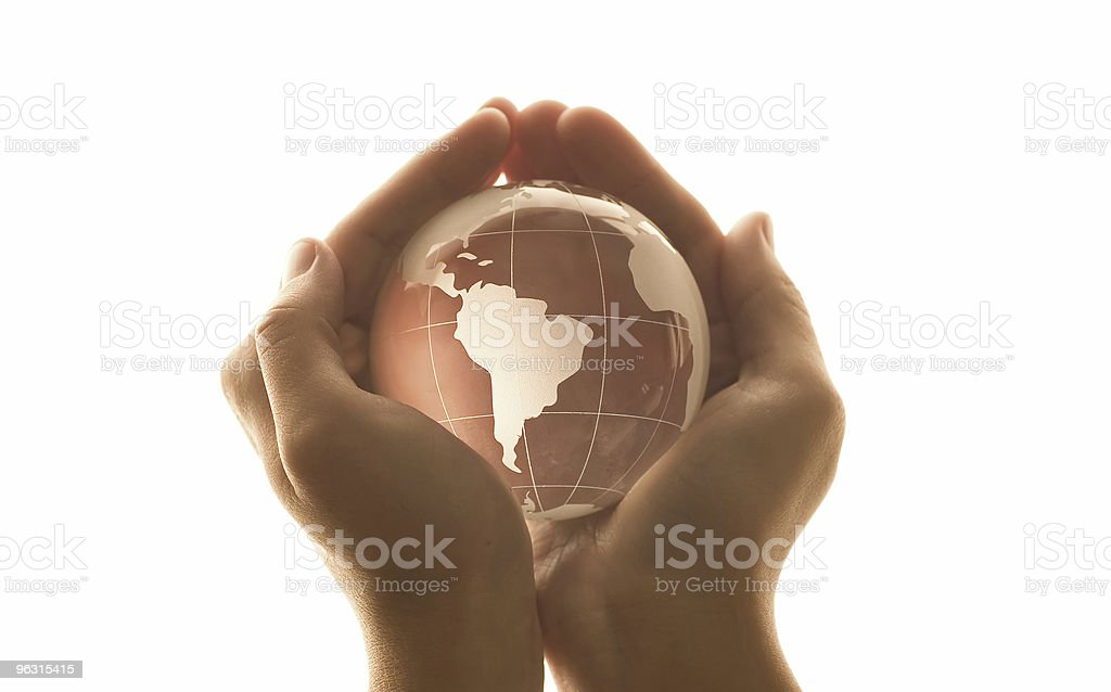 World in the hand ( High Key ) royalty-free stock photo