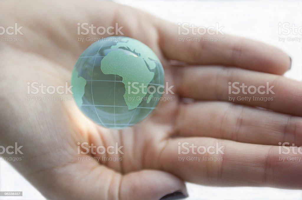 Świat w ręce - Zbiór zdjęć royalty-free (Białe tło)