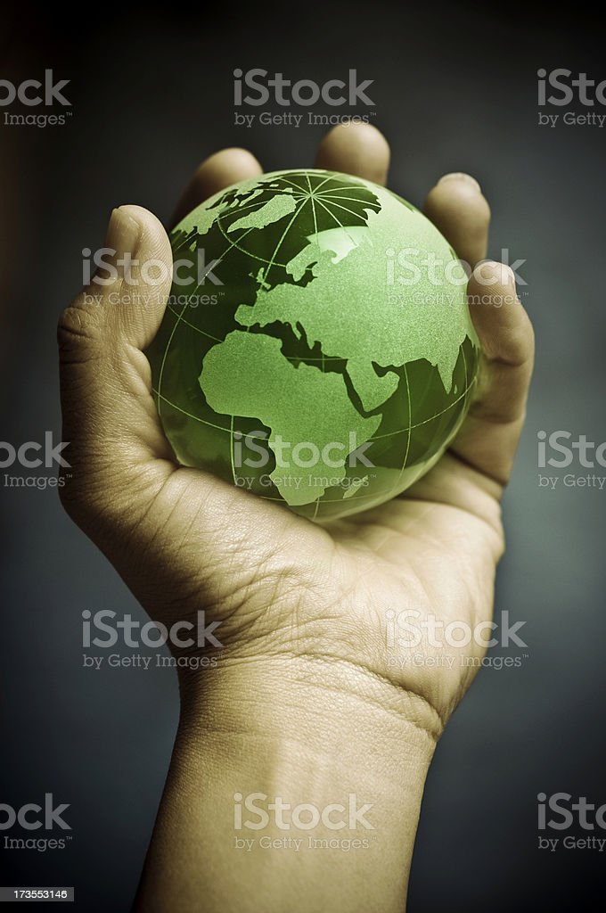 world in the palm of your hand royalty-free stock photo