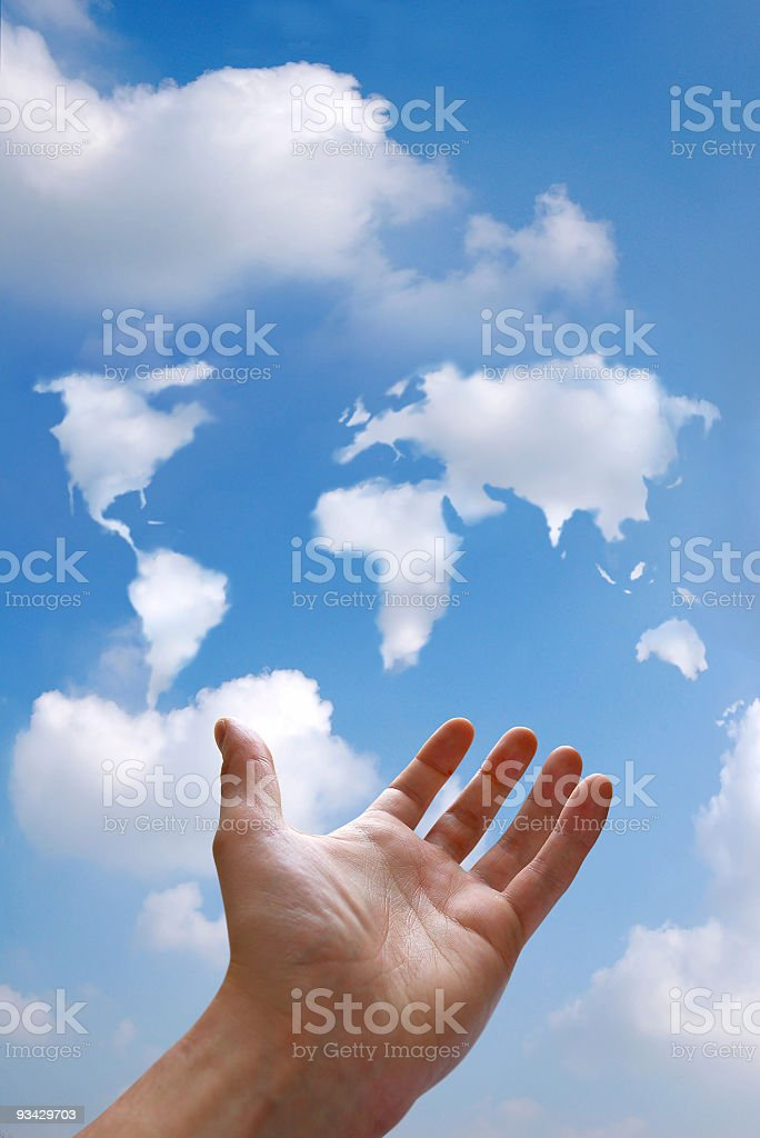 World in the Sky royalty-free stock photo