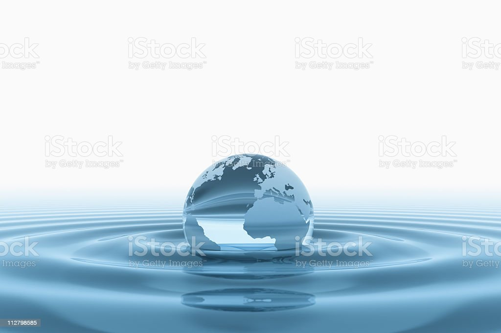 World in water stock photo