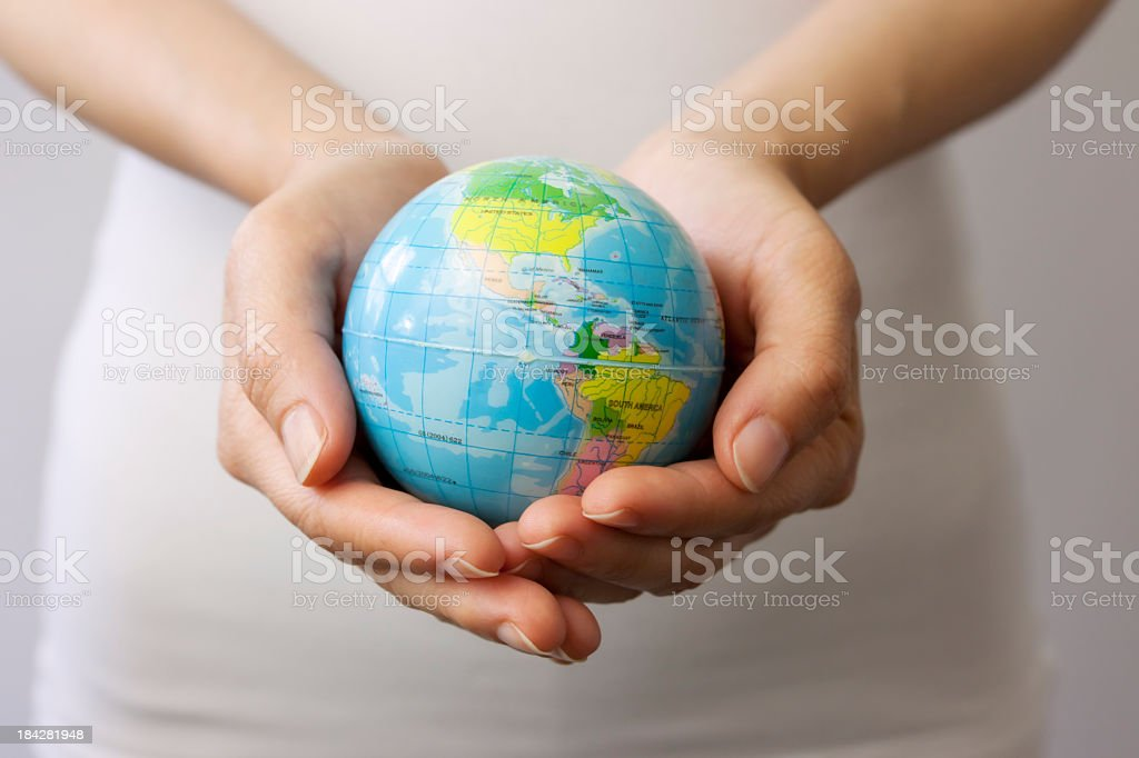 World in your hands stock photo
