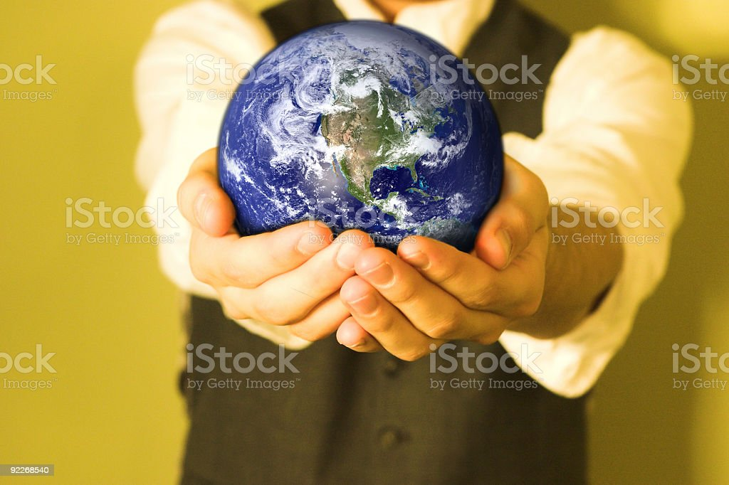 World In Your Hands royalty-free stock photo
