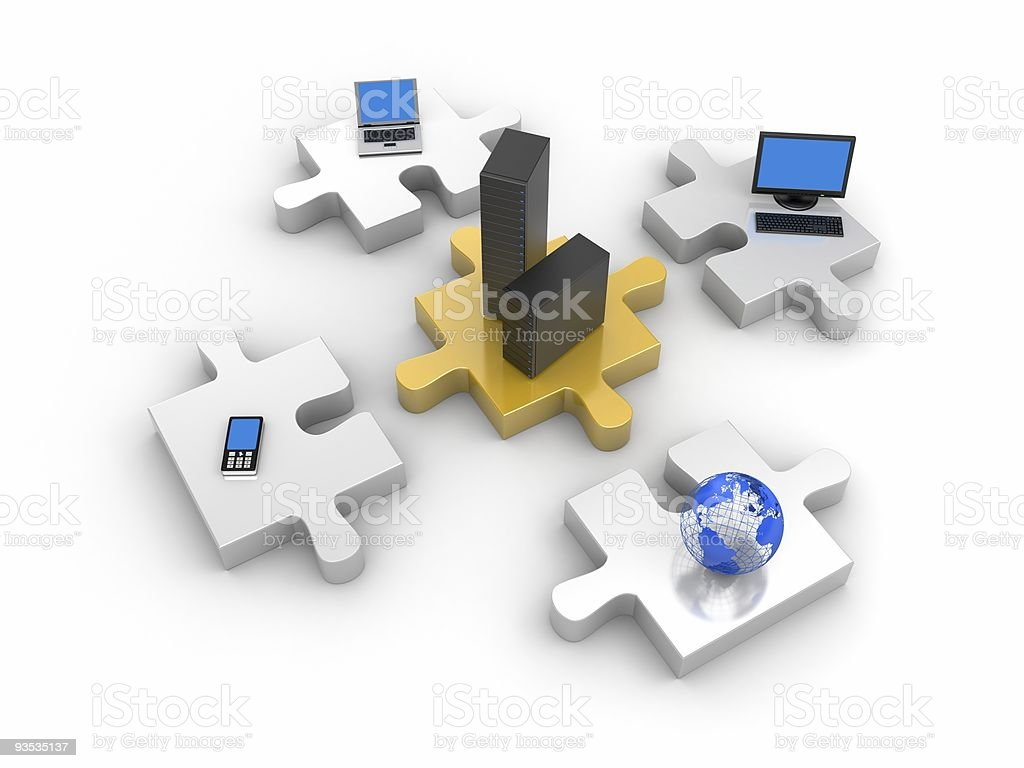 World information technology royalty-free stock photo