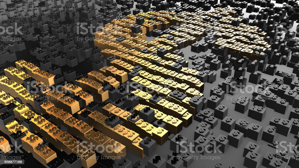 World international business and trade blockchain secure data network stock photo