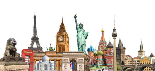 World landmarks photo collage isolated on white background travel picture id698900018?b=1&k=6&m=698900018&s=612x612&w=0&h=2i5jiwz6hnptsktaxl5ujxf0kaivjopijfbysthakgs=