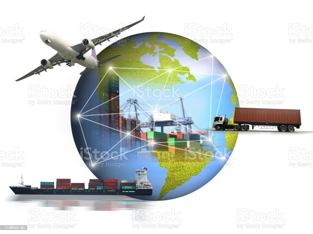 abstract image of the world logistics for support import export...