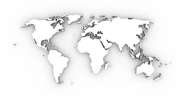Royalty free world map outline pictures images and stock photos world map 3d in white stock photo gumiabroncs Choice Image