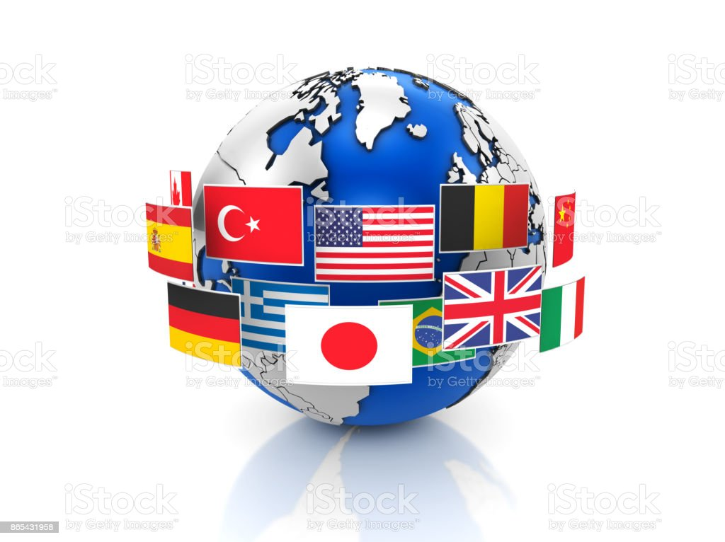 World map and country flags stock photo more pictures of blue istock world map and country flags royalty free stock photo gumiabroncs Images