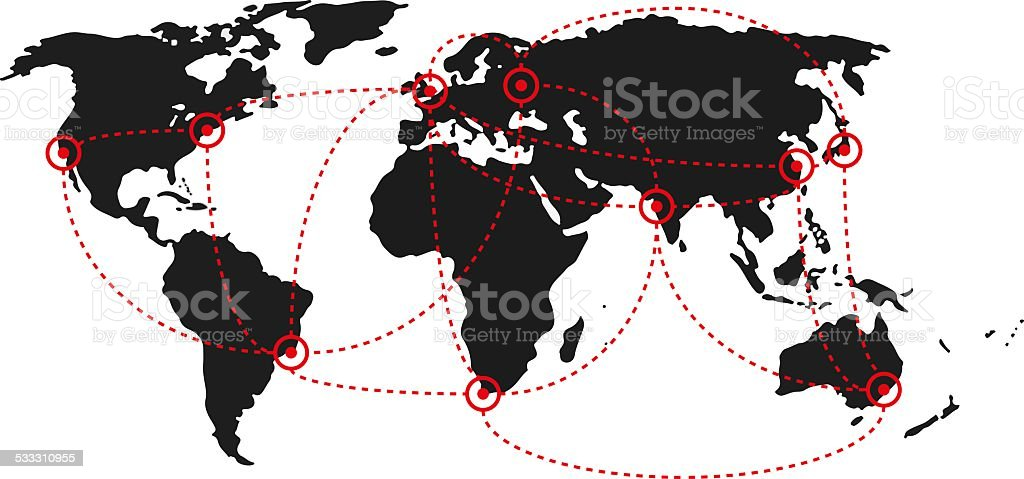 world map city country royalty-free stock photo