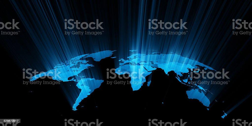 concept de la carte du monde - Photo