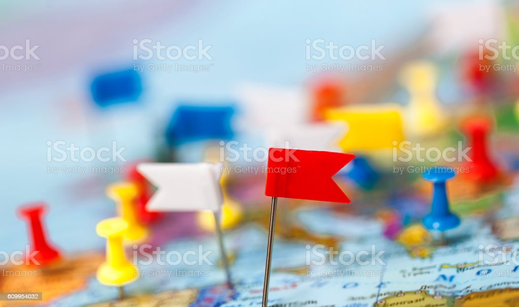 world map country flags marked pin city pinpoint stock photo more