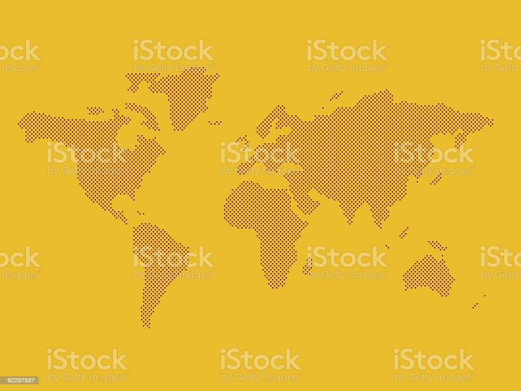 World map. created with dots stock photo
