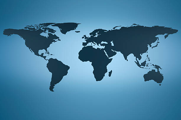 world map, creative abstract design background photo stock photo