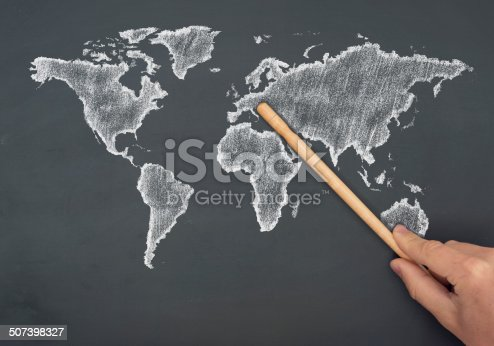 538675410istockphoto World map - europe 507398327