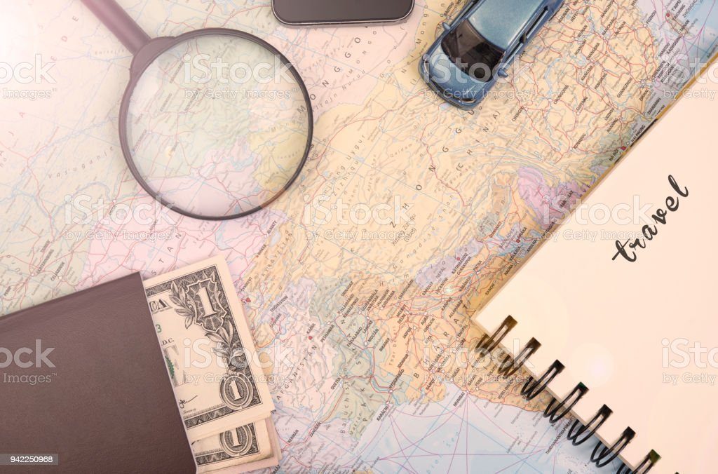 world map for to do list planning vacation with other travel