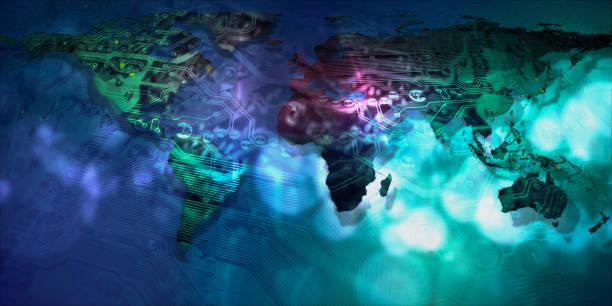 Weltkarte globale Technologie. Elemente dieses Bildes von der NASA eingerichtet. – Foto