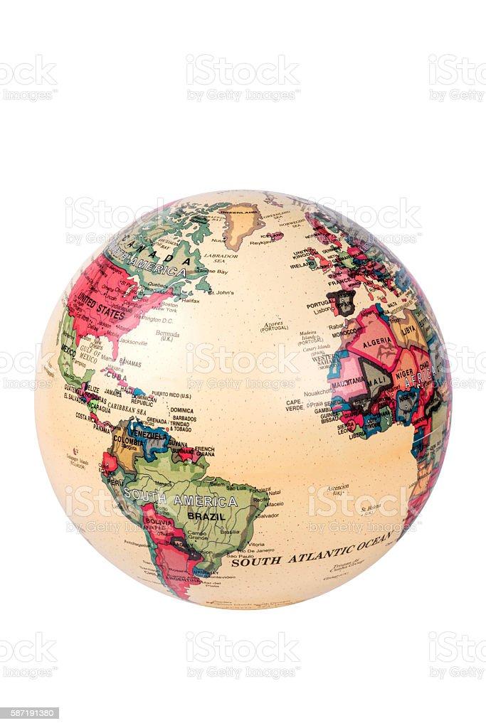 Mapa de mundo globo - foto de stock