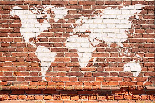 Weltkarte-graffiti – Foto