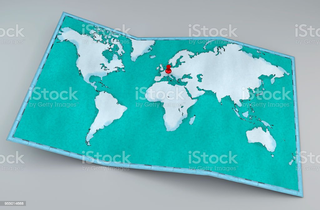World map, hand drawn, illustrated brushstrokes, geographical map,...