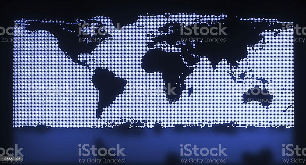 Mappa del mondo con blu scuro foto stock royalty-free