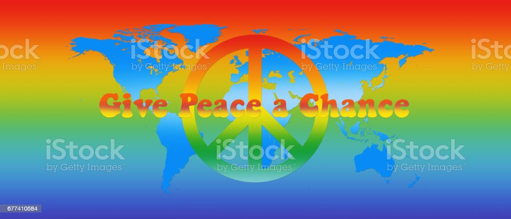World map in peace colors text and sign 3d illustration stock world map in peace colors text and sign 3d illustration royalty free stock vector gumiabroncs Images