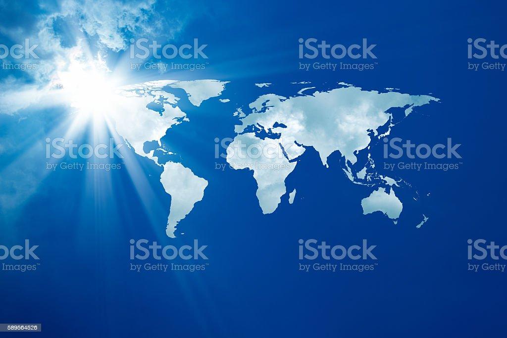 conceptual background image of world map. Furnished NASA world image...