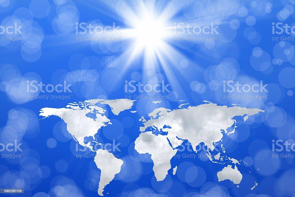 world map in sky royaltyfri bildbanksbilder