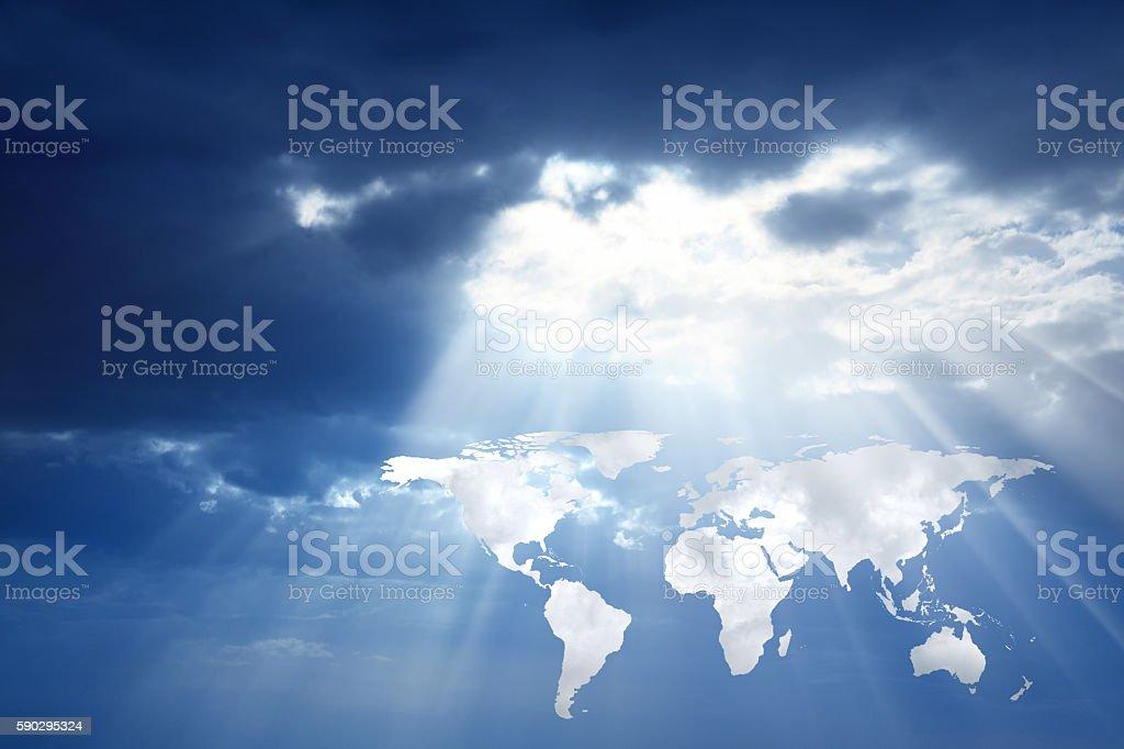world map in sky Стоковые фото Стоковая фотография